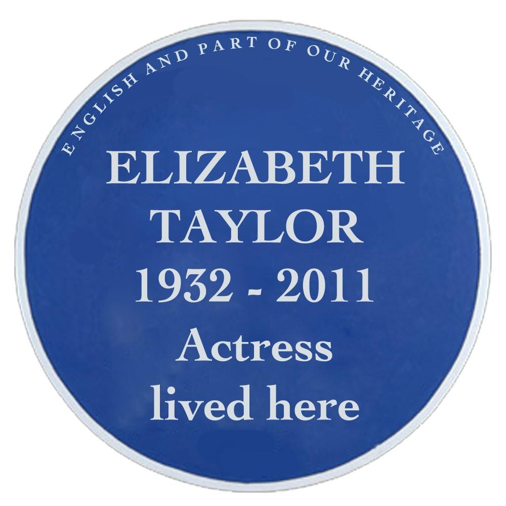 Elizabeth Taylor Blue Plaque Campaign Logo